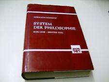 Hermann SCHMITZ - System der Philosophie; Der Leib - Erster Teil