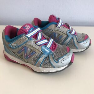 New Balance 689 Athletic Shoes - Toddler Girls 6 - Silver/Pink/Blue