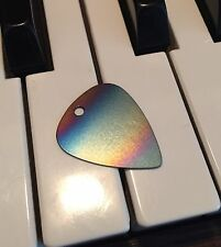 100% Titanium Rainbow Guitar Pick Necklace.  Earrings Pendant Jewelry Metal USA