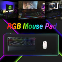 LED RGB Beleuchtung Mauspad Gaming blendend USB Mouse Pad Maus Matte PC Laptop