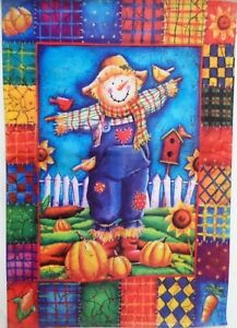 Patchwork Scarecrow Standard House Flag by Evergreen, Colorfast , #3640