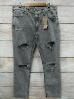 Levi's 511 Jeans Mens Size 33X30 Ripped Snowcat Slim Fit Stretch Jeans New