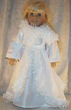 """Doll Clothes Girl fits 18"""" inch Costume Ice Skate Dance Winter White"""