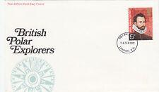 (35638) GB FDC Polar Esploratori Martin Frobisher - Bureau 16 Febbraio 1972