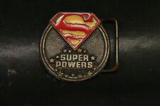 Superman Symbol Super Powers Belt Buckle