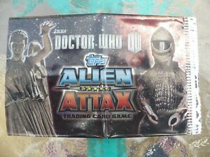 DOCTOR WHO, ALIEN ATTAX, EMPTY TRADING CARD WRAPPER