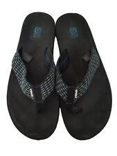 TEVA Mush Black Flip Flops Thongs Sandals Mens Sz 13 Fabric Straps 4168