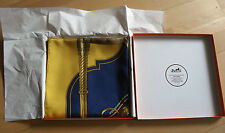 HERMÈS  PARIS  SEIDENTUCH  CAREÉ  SCARF  CARRICK A POMPE RARITÄT + BOX  !!