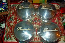 1946-48 LINCOLN SET OF HUBCAPS / WHEEL COVER ALL WITH SCRIPT