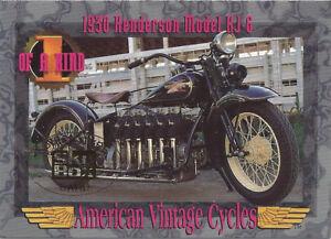 1993 American Vintage Cycles Skybox Promo Prototype 1930 Henderson Model KJ-6