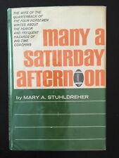 New listing Many a Saturday Afternoon by Mary Stuhldreher 1964 1st Hcdj Notre Dame Wisconsin