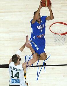 Nicolas Batum Signed Autograph Auto 8x10 Photo COA France Charlotte Hornets