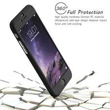 IPhone 5/5S todo el cuerpo negro caso cabido con construido en vidrio protector de pantalla