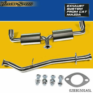 """BOLT-ON STAINLESS STEEL 3.5"""" TIP CAT CATBACK EXHAUST SYSTEM 04-11 MAZDA RX-8"""