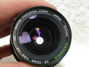 28 - 70mm 3.5 - 4.8  HANIMEX MC Zoom macro focusing system canon fd mount mf