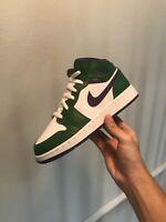 "Air Jordan 1 Mid ""Hulk"" 554725 300 Size 7y BRAND NEW Green Purple White"