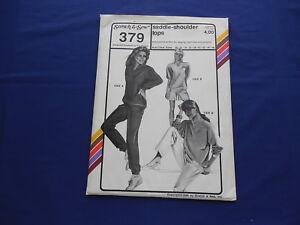 Vintage Stretch & Sew Saddle Shoulder Tops Pattern #379 Sizes 30-46 1988