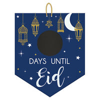 New Eid MDF Countdown Chalkboard Signs 32cm x 38cm