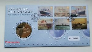 ROYAL MINT ISSUED 2004 SPANNING THE OCEANS COMMEMORATIVE PNC COIN COVER-#06697