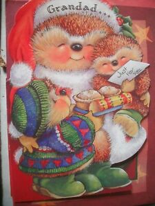 GRANDAD Just For You at Christmas (Hedgehog Family) Country Companions Card