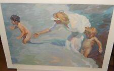 """JOHN ASARO """"BEACH AT CORONADO"""" LIMITED EDITION HAND SIGNED SERIGRAPH $3000.00"""
