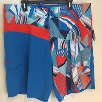 REEBOK Men's XXL Multi-Color Board Shorts Swim Trunks Bathing Suit NWT