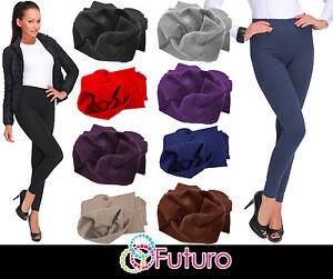 UK Thick Warm Cotton Full Length Winter Fleece Leggings All Colours - Sizes P28