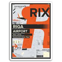 2 x 10cm RIX Riga Airport Vinyl Stickers - Latvia Travel Sticker Luggage #17446