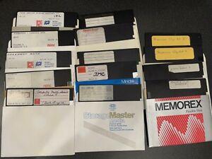 Apple II plus IIe 2 vintage computer software used 14 floppy disk lot