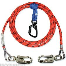 "Climber Flipline Kit, 2 in 1 Lanyards, Steel Core, 2 Snaps, 1/2"" X 12'"
