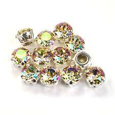 Swarovski 39ss Sew On Crystals 1088 Luminous Green Xirius 6 Pieces