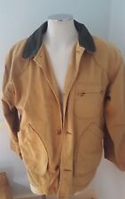 LL Bean Men's Tan Barn Field Farm Chore Jacket Lined Coat M Work L.L. Bean