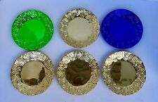 Mardi Gras Wall Plates / Candle Holder Purple Green Gold Lot of 6