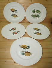 """Royal Crownford English Orchard (5) Dinner Plates-Pineapples-Grapes-Peaches 11"""""""