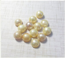 Natural Mabe Pearl Cabochon 10mm, Lustrous Cream Ivory Pearl , 1 Cabochon