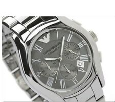 NWT Emporio Armani Mens Watch Bracelet Gunmetal All TITANIUM CERAMIC AR1465 $645