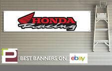 HONDA Racing banner per Officina, Garage, ufficio, BANNER IN PVC CON OCCHIELLI