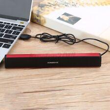 USB Input Laptop Desktop Stereo Speaker Audio Soundbar Bass Speaker