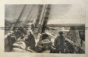 Antique print - International Ocean Yacht Race c.1870. Ref# 232-918 Yachting