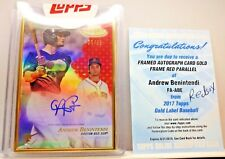 2017 Topps Gold Label Framed Andrew Benintendi Rookie Autograph RED AUTO 25/25!
