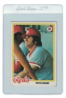 PETE ROSE 1978 TOPPS Cincinnati REDS MLB Baseball Trading Card #20 Manager