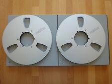 2 Revox 35-180 NAB Alu Spulen  26,5cm ¼ Zoll mit Schubern Reel to Reel