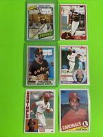 🔥1980-85🔥HOF St Louis CARDINALS OZZIE SMITH VINTAGE Topps Baseball Card LOT X6