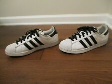 Used Worn Size 9.5 Adidas Superstar Shoes White Black Gold 5a550bec2