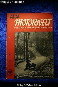 """"""" G """" ADAC Motorwelt 11/51 Mercedes 220 Porsche World Record"""