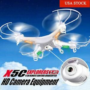 DRONE X5C Explorer 2.4G 4CH 6 Axis Gyro RC Quadcopter W/HD Camera from USA toYou