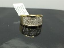 New 10K Yellow Gold Men's 0.27CT Diamond Ring, Wedding Collection