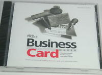 ProBiz Business Card Maker by Global Star Software. WIN 98/Me/XP CD-ROM