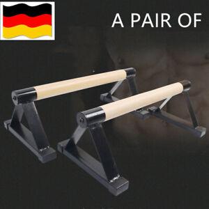 Metall und Holz Parallettes Handstand Barren Liegestützgriffe Push-Up bars Neu