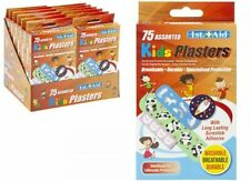 75 Kids Plasters Mixed Pack Childrens Fun Designs Latex free Sterile Washable